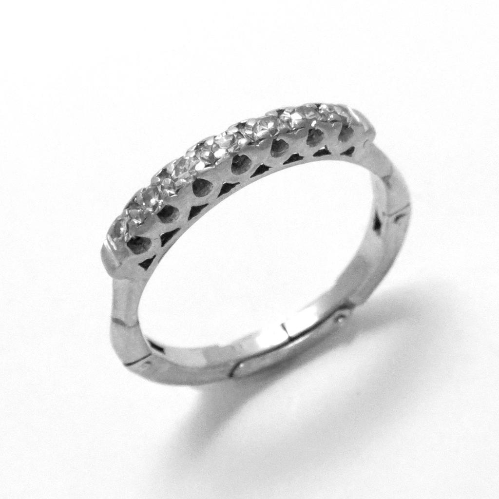 diamonds wedding band platinum 14k white gold ring size